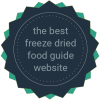 best freeze dried food guide logo
