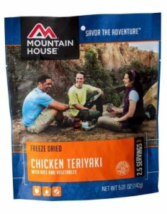 mountain house chicken teriyaki with rice 2.5 serving pouch